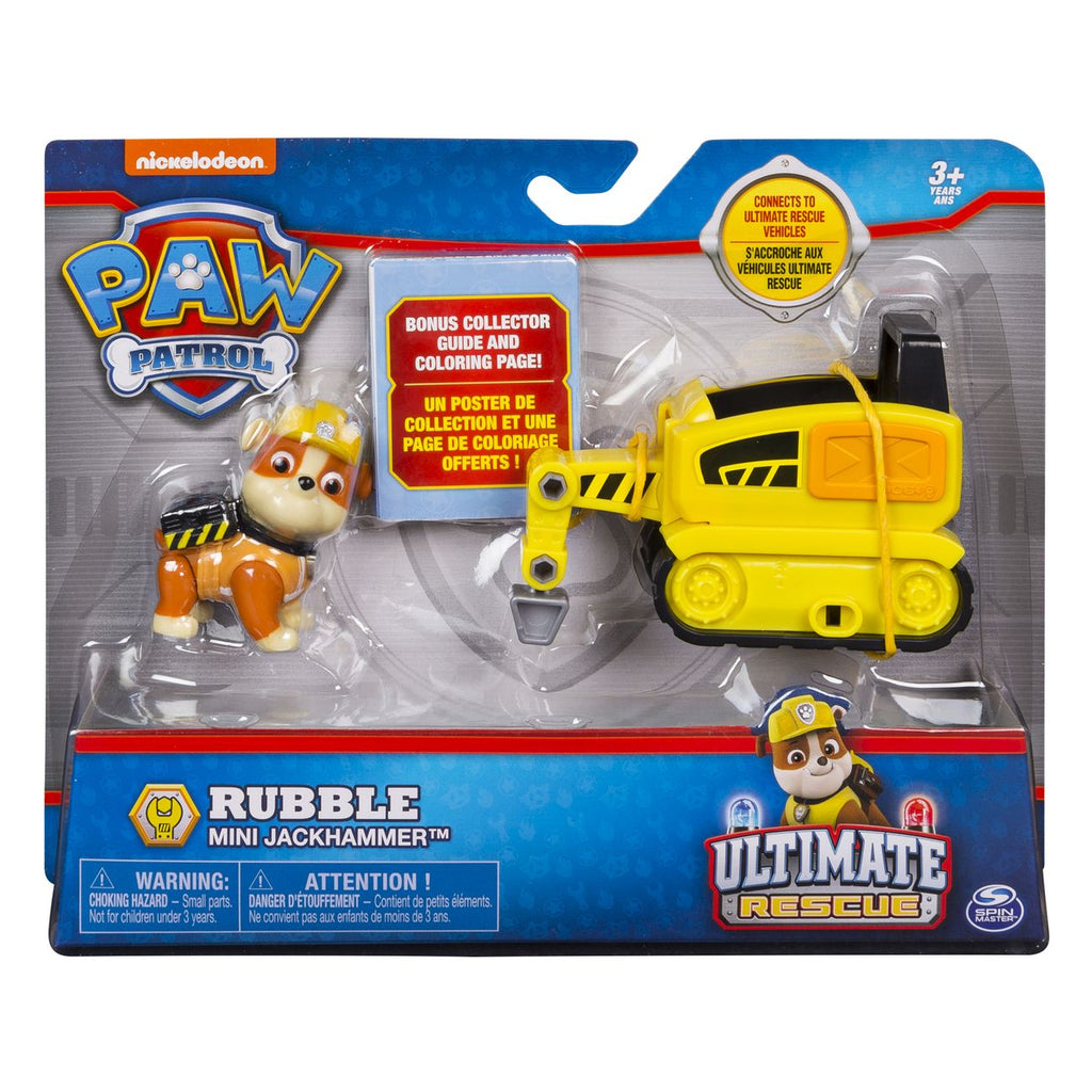 Paw Patrol Ultimate Rescue Mini Vehicle Rubble - Toyworld