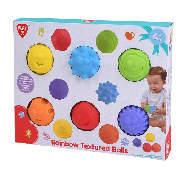 Playgo 6 Piece Textured Balls - Toyworld