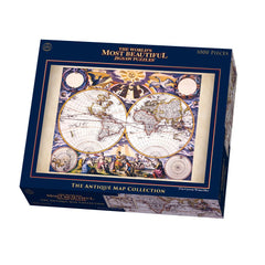 Puzzle The Worlds Most Beautiful Jigsaw Puzzles 17Th Century World Map - Toyworld