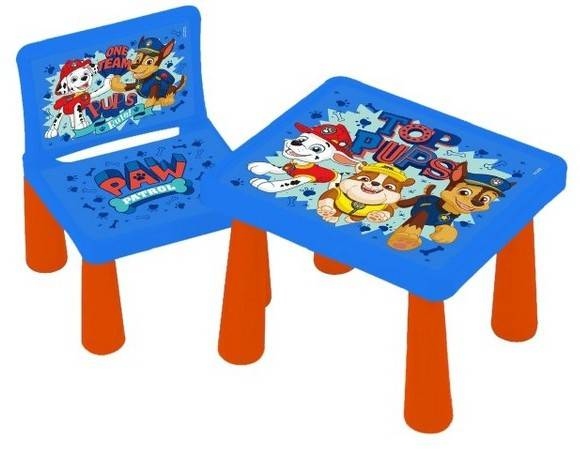Paw Patrol Plastic Table & 2 Chairs - Toyworld