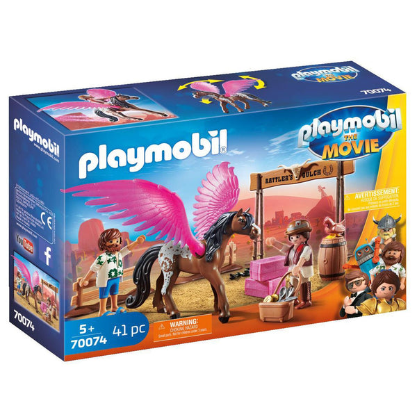 PLAYMOBIL 70074 MARLA AND DEL WITH PEGASUS