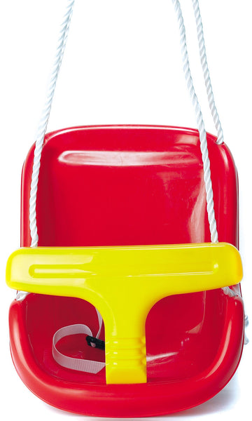 PLAYWORLD PLASTIC BABY SWING RED AND YELLOW