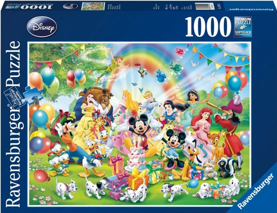 RAVENSBURGER DISNEY MICKEYS BIRTHDAY 1000 PIECE PUZZLE