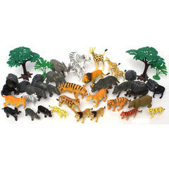 Safari Animals Bucket 40 Pieces Img 1 - Toyworld