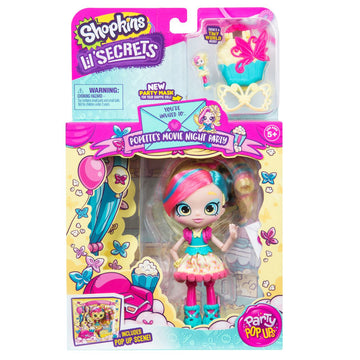 Shopkins Lil Secrets Shoppies Popettes Movie Night Party - Toyworld