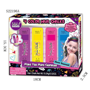 Sl Cosmetics Hair Chalk Set With 4 Colors - Toyworld