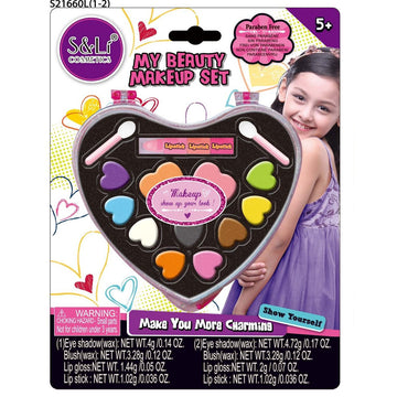 Sl Cosmetics My Beauty Make Up Set With Eye Shadow Assorted Styles - Toyworld