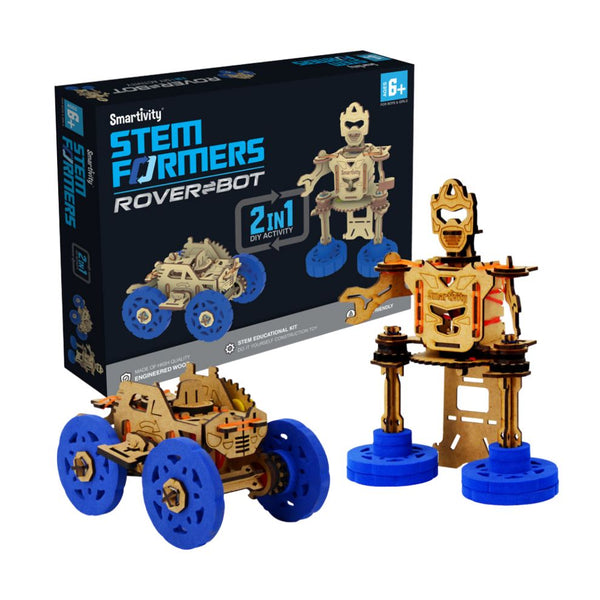 SMARTIVITY STEMFORMER - WINDUP CAR AND ROBOT