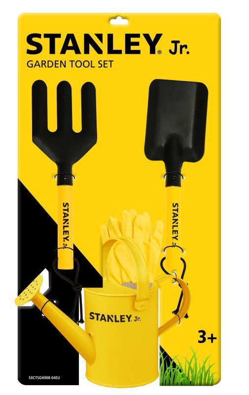STANLEY JR 4 PIECE GARDEN SET WITH CAN
