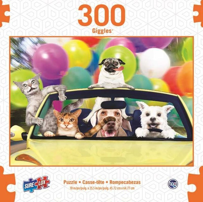 Surelox Giggles Dog Car 300 Piece - Toyworld