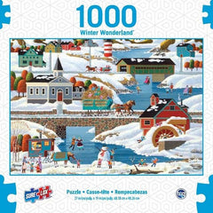 Surelox Winter Wonderland Town 1000 Piece - Toyworld