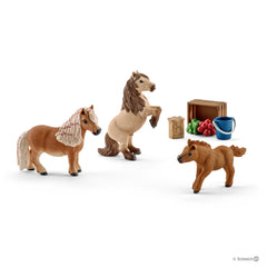 Schleich Miniature Shetland Pony Family - Toyworld