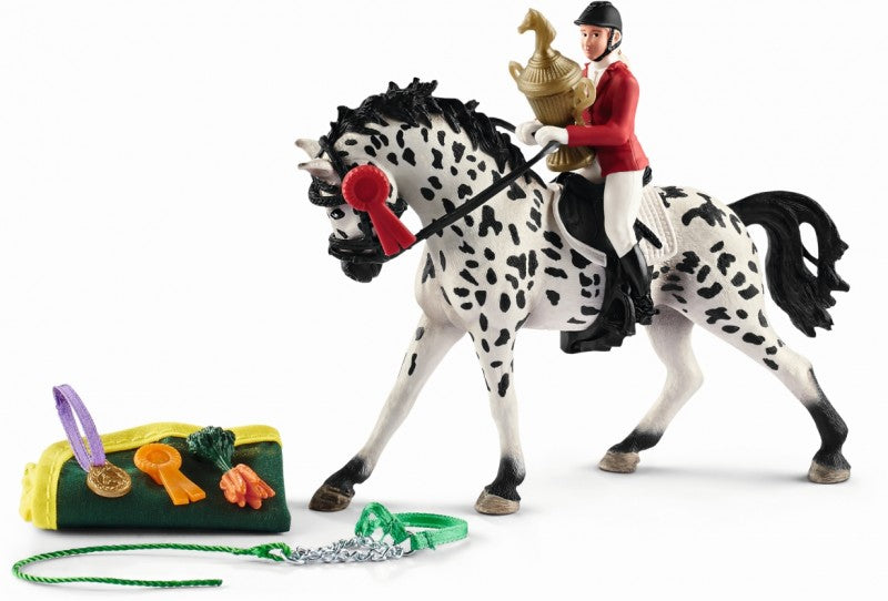 Schleich Showjumping Tournament Playset With Knabstrupper Mare - Toyworld
