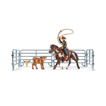 Schleich Team Roping With Cowboy Set - Toyworld