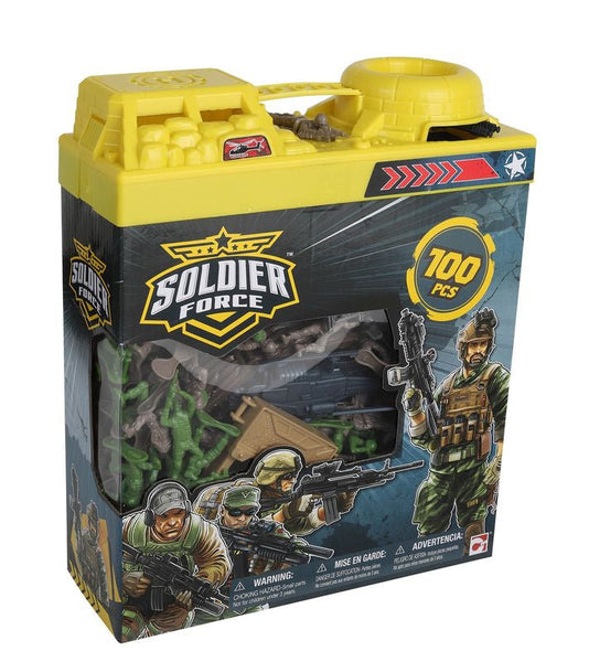 Soldier Force 100 Piece Bucket Playset - Toyworld