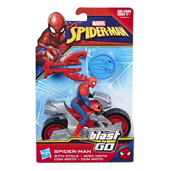 Spiderman Blast N Go Vehicle Spiderman With Cycle 1 - Toyworld