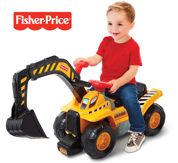 FISHER PRICE ACTION DIG N RIDE WITH CRANE