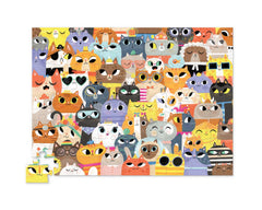 CROCODILE CREEK 72 PIECE JUNIOR PUZZLE LOTS OF CATS