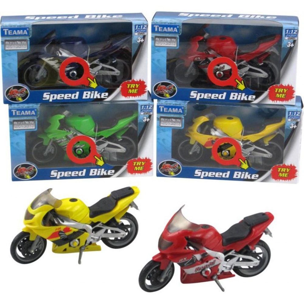 TEAMA SPEED BIKE WITH ENGINE SOUNDS ASSORTED STYLES - Toyworld