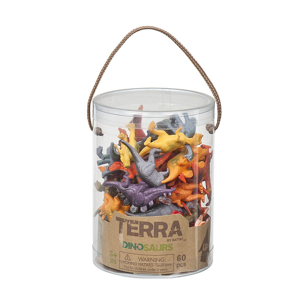 Terra Dinosaurs In Tube 60 Pieces - Toyworld