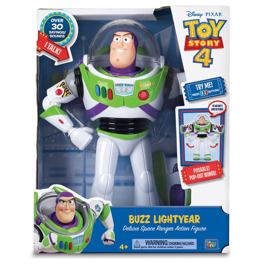 Toy Story 4 Deluxe Talking Buzz Lightyear - Toyworld