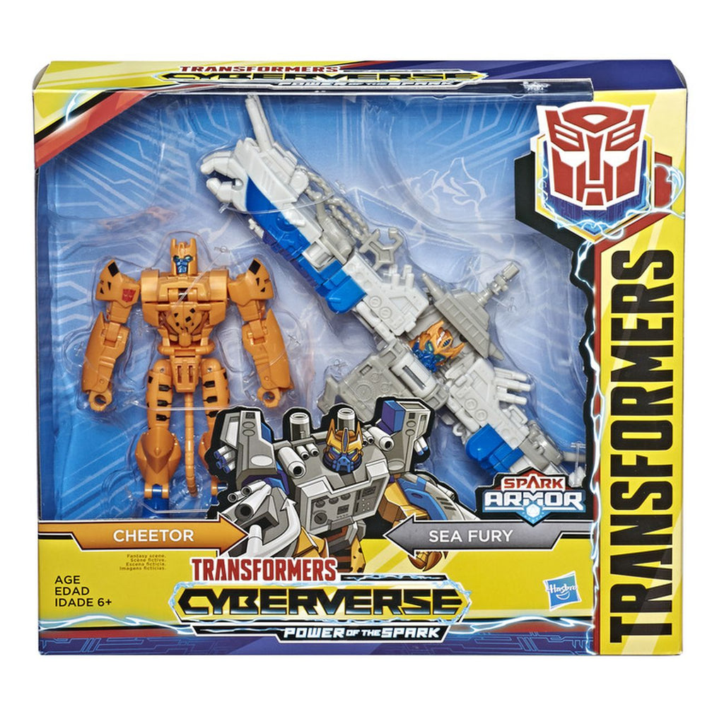 Transformers Cyberverse Spark Armor Elite Class Cheetor Sea Fury - Toyworld