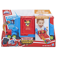 Playskool Transformers Rescue Bots Academy Flip Racers Launch Race Trailer - Toyworld