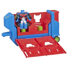 Playskool Transformers Rescue Bots Academy Flip Racers Launch Race Trailer Img 2 - Toyworld