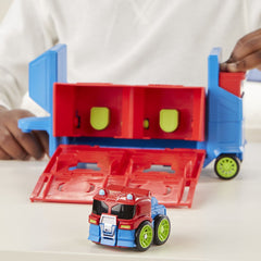 Playskool Transformers Rescue Bots Academy Flip Racers Launch Race Trailer Img 4 - Toyworld