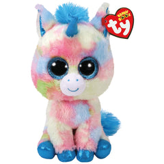 TY BEANIE BOO MEDIUM BLITZ BLUE UNICORN
