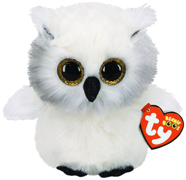 Ty Beanie Boos Austin White Owl Regular - Toyworld
