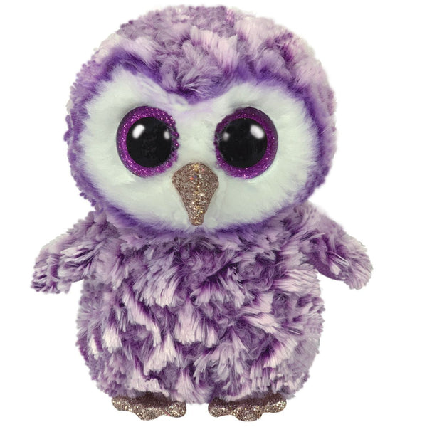 Ty Beanie Boo Regular Moonlight Purple Owl - Toyworld