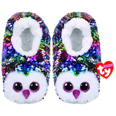 TY SEQUIN SLIPPER SOCKS OWEN MEDIUM