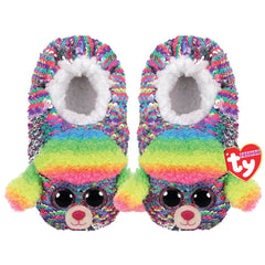 Ty Sequin Slipper Socks Rainbow Medium - Toyworld
