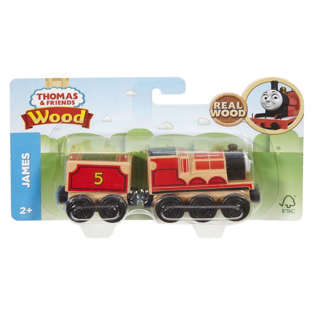 Thomas Friends Wood Large Engine Carriage James - Toyworld