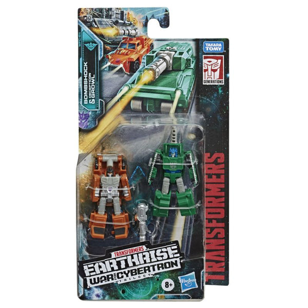 Transformers War For Cybertron Micromaster Figure Bombshock Decepticon Growl - Toyworld