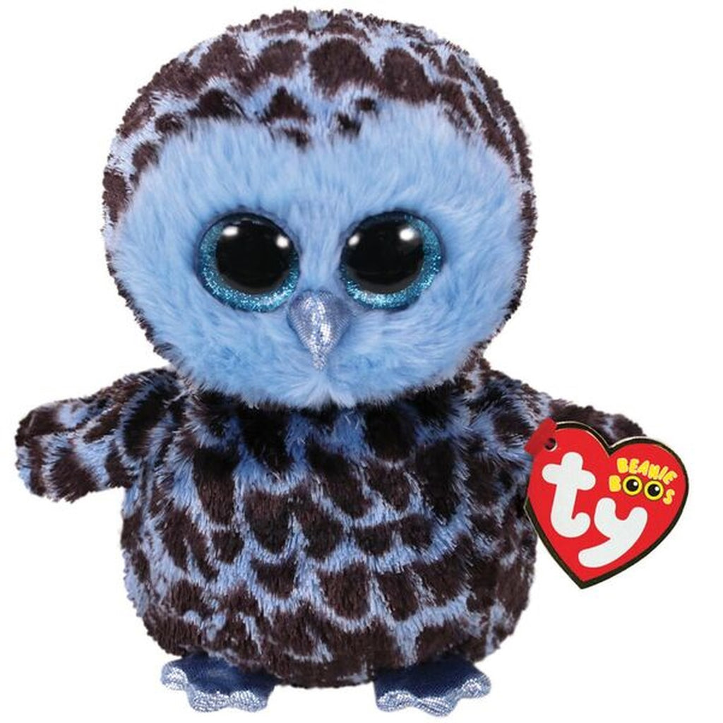 Ty Beanie Boos Yago The Blue Owl Medium - Toyworld