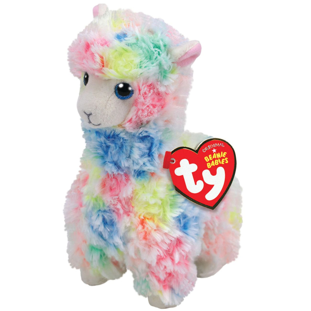 Ty Beanie Boo Medium Lola Multi Llama - Toyworld