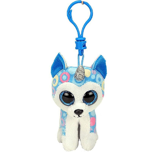 Ty Beanie Boos Clip On Helena The Blue Husky With Horn - Toyworld