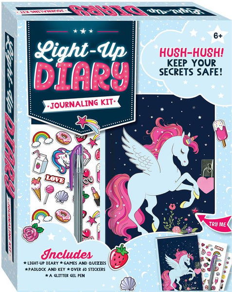 UNICORN LIGHT UP DIARY JOURNAL KIT