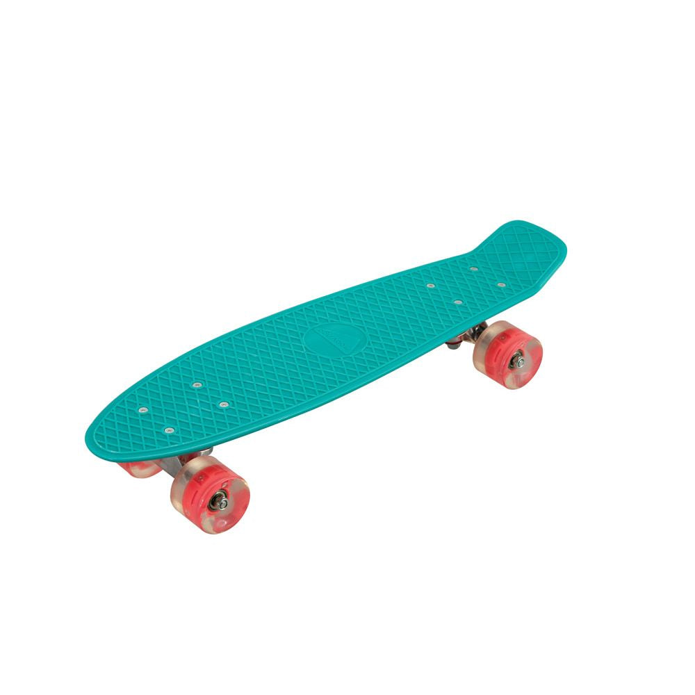 Vintage Skateboard Teal Orange Light Up Wheels - Toyworld