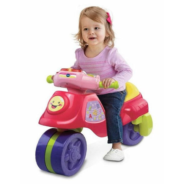 VTECH 2 IN 1 LEARN AND ZOOM MOTORBIKE PINK
