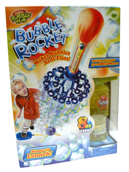 BUBBLE CLUB BUBBLE ROCKET WITH 8OZ SOLUTION - Toyworld