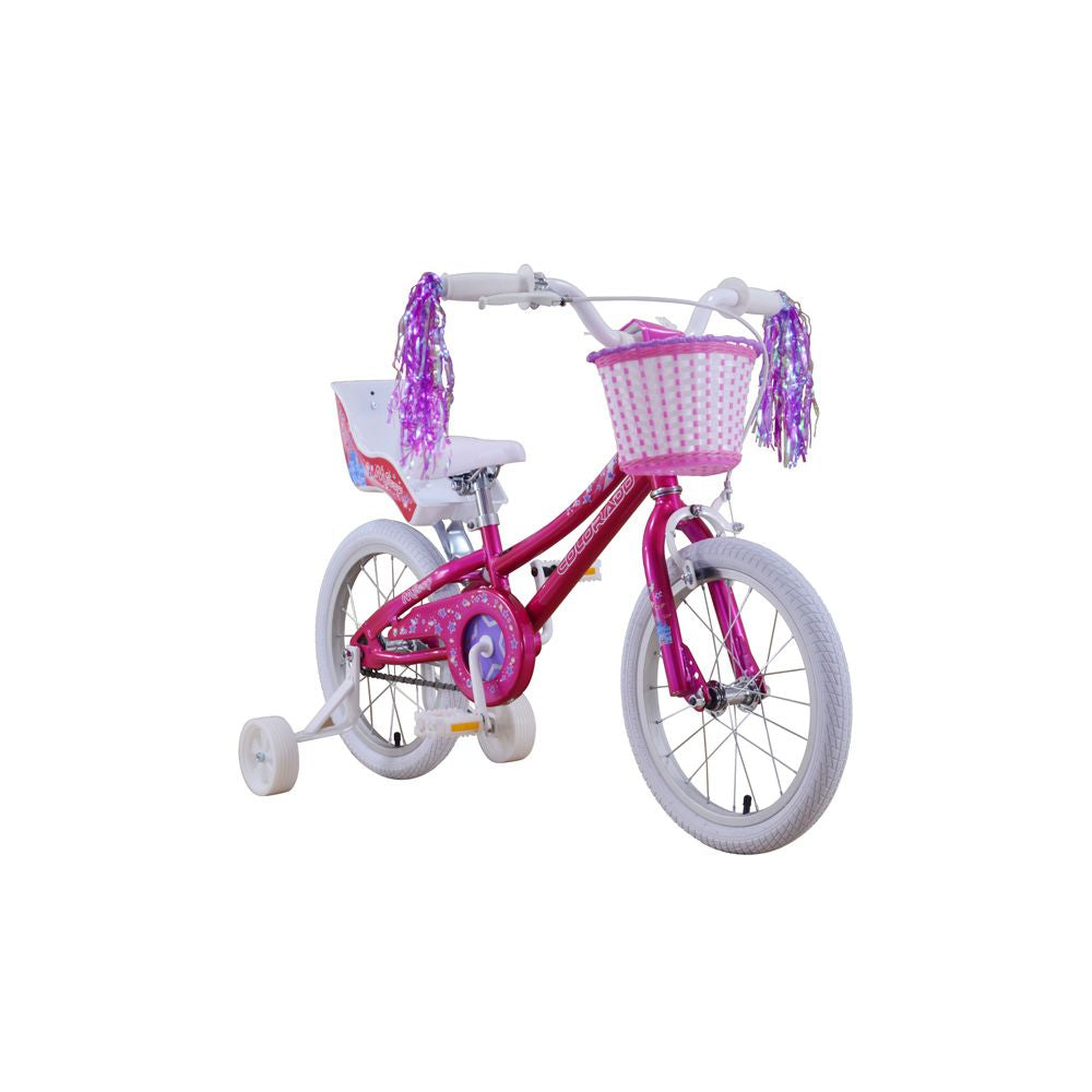 COLORADO 16 INCH BMX MISSY PINK WITH DOLL SEAT