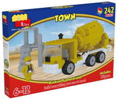 Best Lock Medium Construction Set Cement Mixer - Toyworld