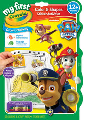 Crayola Paw Patrol My First Color Shapes Sticker Activity Book - Toyworld