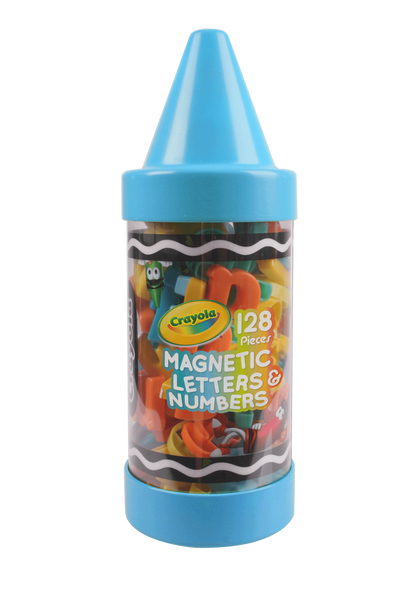 CRAYOLA 128 PIECE MAGNETIC LETTERS AND NUMBERS
