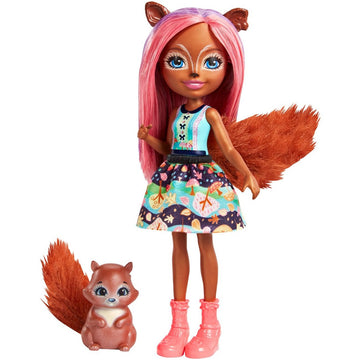 Enchantimals Doll Pet Sancha Squirrel Stumper - Toyworld