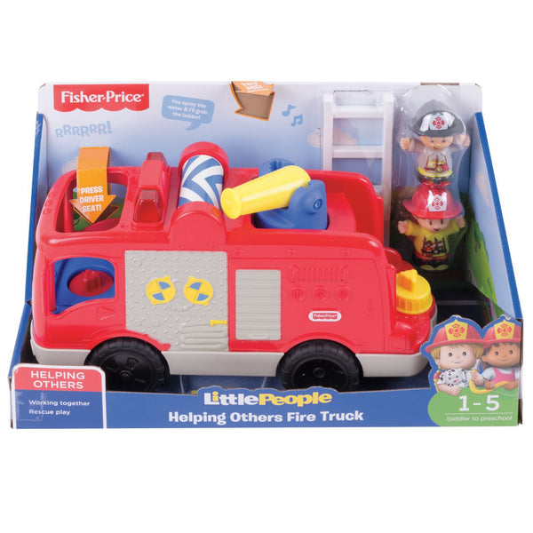 FISHER PRICE LITTLE PEOPLE LARGE VEHICLE HELPING OTHERS FIRE TRUCK