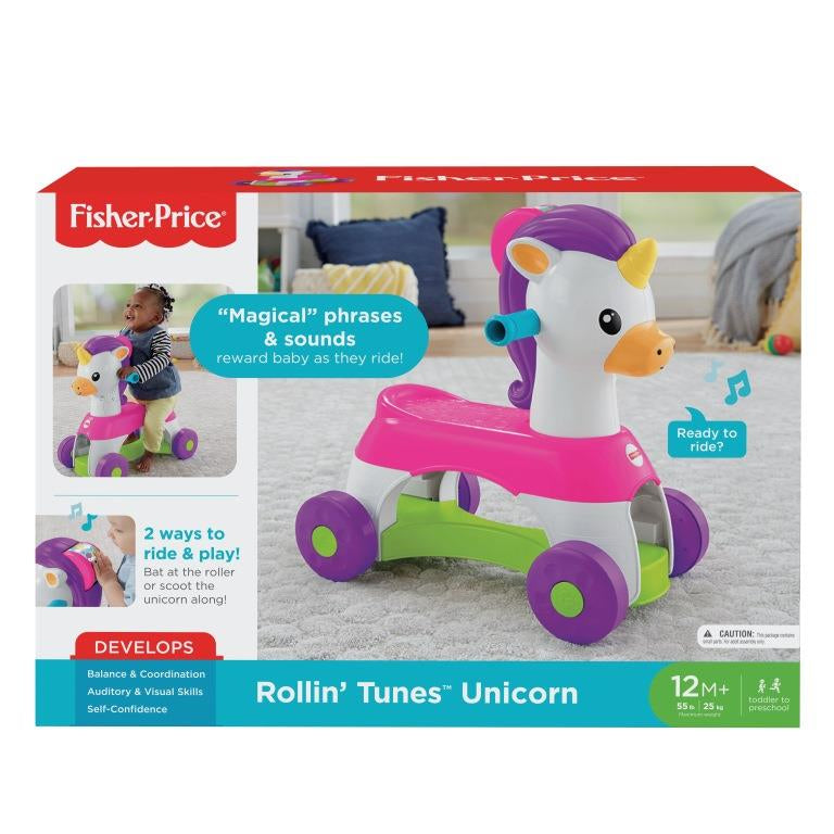 Fisher Price Rollin Tunes Unicorn - Toyworld